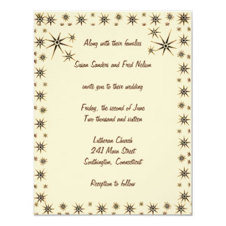 Antique Stars Wedding Invitation