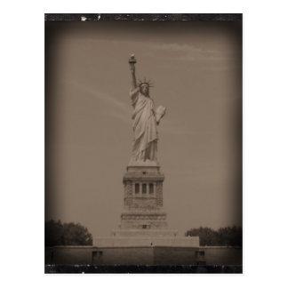 Antique Statue of Liberty Photograph Postcard