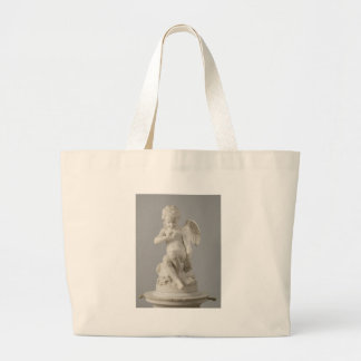 Antique statue or cupid jumbo tote bag