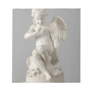 Antique statue or cupid notepad