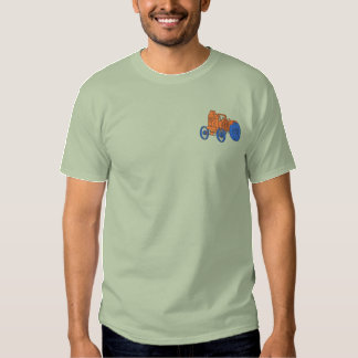 Antique Steam Tractor Embroidered T-Shirt