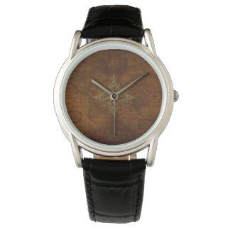 Antique Steampunk Compass Rose & Old World Map Wrist Watch