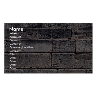 Antique stone wall, Phaistos, Crete, Greece Double-Sided Standard Business Cards (Pack Of 100)