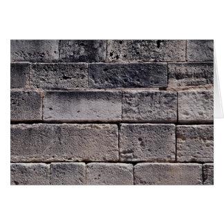 Antique stone wall, Phaistos, Crete, Greece Greeting Card