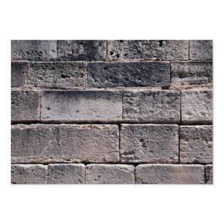 Antique stone wall, Phaistos, Crete, Greece 5x7 Paper Invitation Card