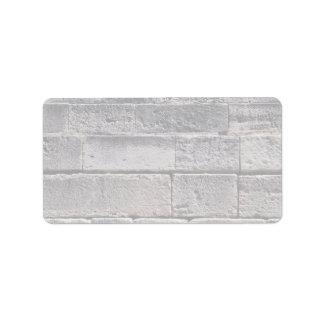 Antique stone wall, Phaistos, Crete, Greece Address Label
