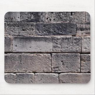 Antique stone wall, Phaistos, Crete, Greece Mouse Pad