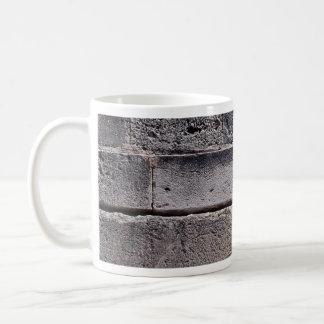 Antique stone wall, Phaistos, Crete, Greece Classic White Coffee Mug
