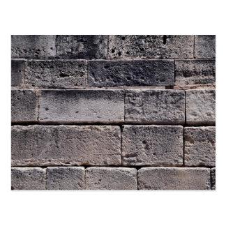 Antique stone wall, Phaistos, Crete, Greece Postcard