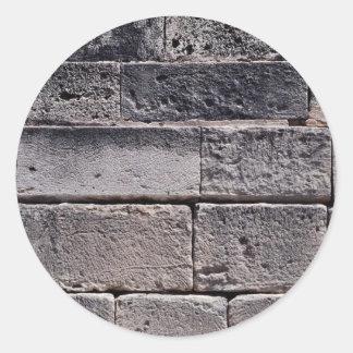 Antique stone wall, Phaistos, Crete, Greece Classic Round Sticker