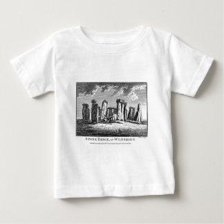 Antique Stonehenge woodcut Stone Circle Engraving Baby T-Shirt