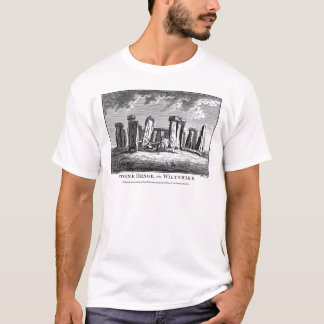 Antique Stonehenge woodcut Stone Circle Engraving T-Shirt