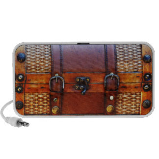 Antique Storage Trunk for your Tunes iPhone Speaker