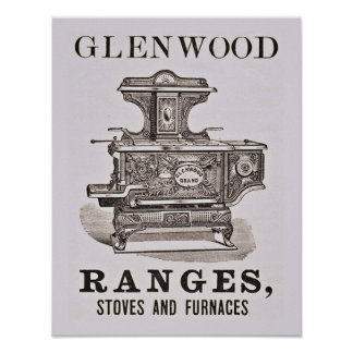 Antique Stove Advertising Poster