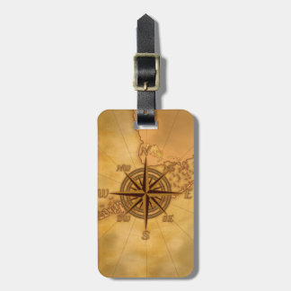 Antique Style Compass Rose Bag Tag