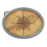 Antique Style Compass Rose Belt Buckles