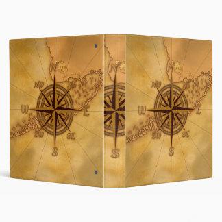 Antique Style Compass Rose Vinyl Binder