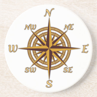 Antique Style Compass Rose Coasters