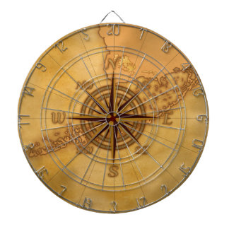Antique Style Compass Rose Dartboards