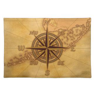 Antique Style Compass Rose Place Mats