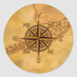 Antique Style Compass Rose Stickers