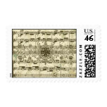 Antique-Style Music Postage Stamps