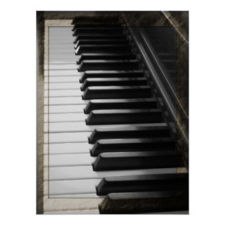 Antique Style Piano Poster