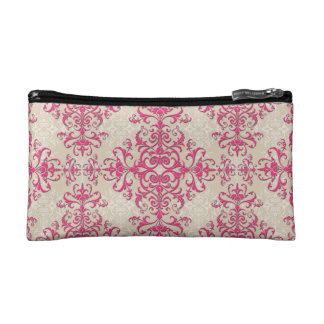Antique Style Victorian Wallpaper Damask Art Cosmetic Bags