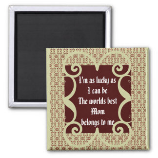 ANTIQUE STYLE WORLD S BEST MOM MAGNET