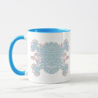 Antique Sugar Skull & Crossbones 2c Mug
