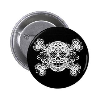 Antique Sugar Skull & Crossbones Pins