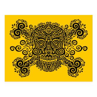 Antique Sugar Skull & Crossbones II Postcard