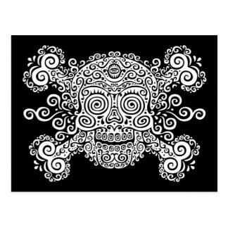 Antique Sugar Skull & Crossbones II Postcard