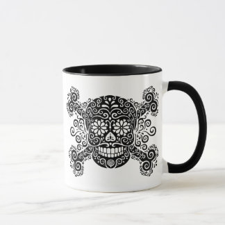 Antique Sugar Skull & Crossbones Mug