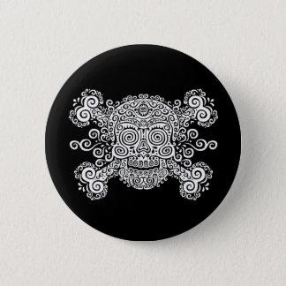 Antique Sugar Skull Pinback Button