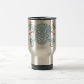 Antique Sugar Skull Travel Mug