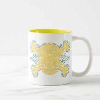 Antique Sugar Skull Two-Tone Coffee Mug