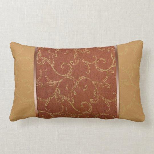 Antique swirls lumbar pillow