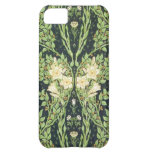 Antique Symmetrical Foliage & White Flowers iPhone 5C Covers