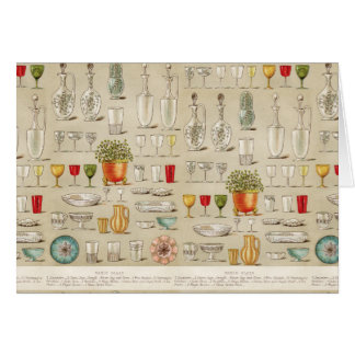Antique Table Glass Blank Cards Note Card