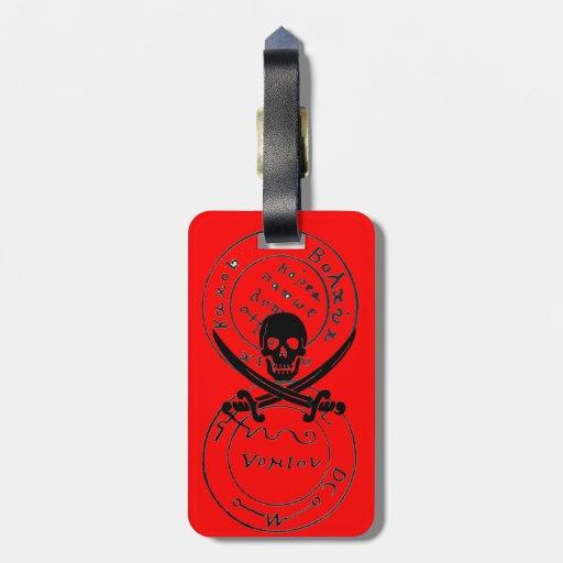 ANTIQUE TALISMAN / PIRATES TREASURE MAPS,Red Travel Bag Tags