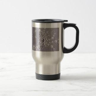 Antique Tambour Lace Travel Mug
