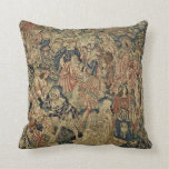 Antique Tapestry Look Cushion Throw Pillow