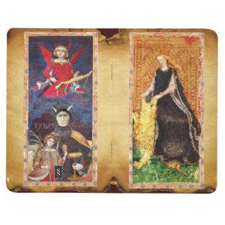 ANTIQUE TAROTS / FORTITUDE,DEVIL,MAGICIAN,LOVERS JOURNAL