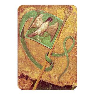 Antique Tarots /German Court Cards,Flag of Falcons Card