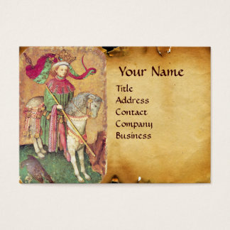 Antique Tarots /German Court Cards/King of Falcons Business Card