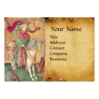 Antique Tarots /German Court Cards/King of Falcons Large Business Card