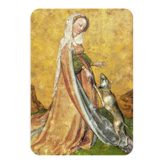 Antique Tarots /German Court Cards/ Lady of Dogs Card