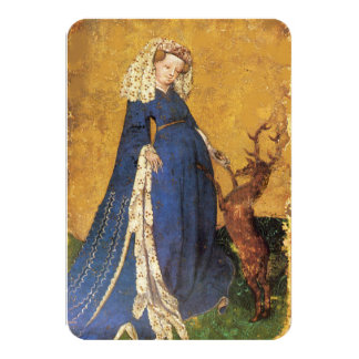 Antique Tarots /German Court Cards/Lady of Harts Card