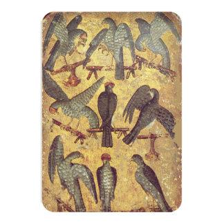 Antique Tarots /German Court Cards,Nine of Falcons Card